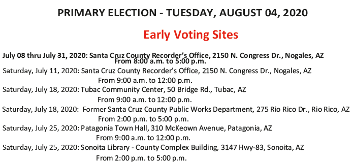 2020 Primary Election Early Voting Sites