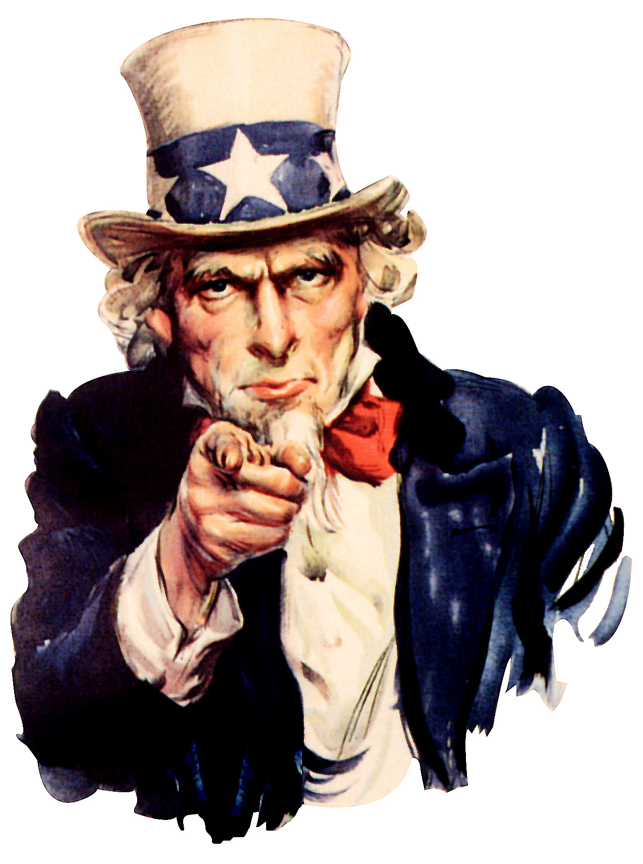 Illustration of Uncle Sam pointing at the viewer.