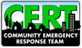 Logo for the Community Emergency Response Team Program.