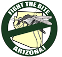 Fight the Bite campaign poster featuring a crossed out mosquito.