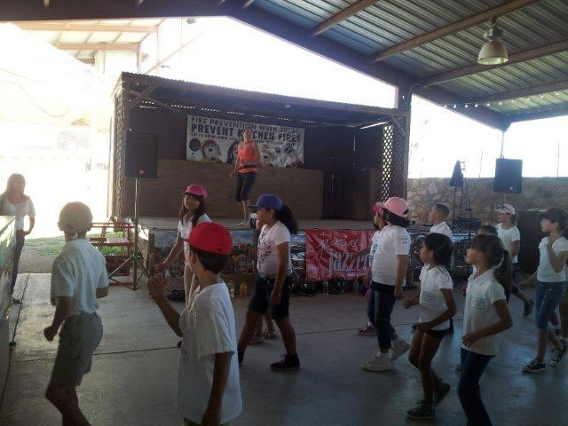 Kids get together to dance at the Junior Jazzers event.