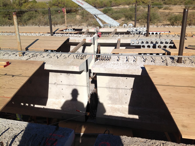 Girder joints ready to be installed.